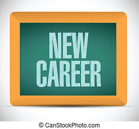 new career message on a board. illustration