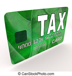 Tax On Credit Debit Card Shows Taxes Return IRS - Tax On...