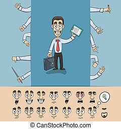 Business man construction pack - Business man character...