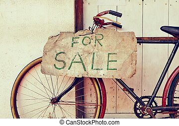 For sale - Abandoned bicycle for sale - retro color