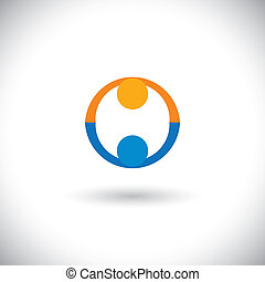 concept vector of people icons greeting, partnership, deal....