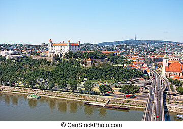 View of the old castle in Bratislava, Slovakia