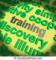Training Word Shows Education Apprenticeship Or Up skilling...