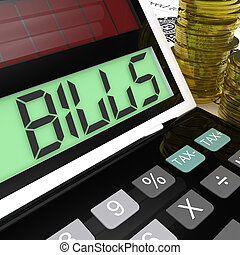 Bills Calculator Means Invoices Payable And Owing