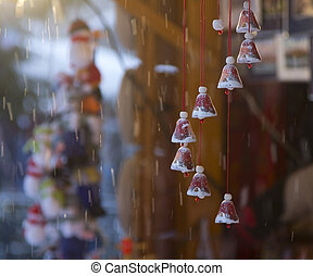 winter, snow, bells, jingle, fair, christmas,