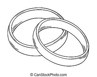 Eheringe clipart schwarz weiß  Zwei ringe Clipart Vektor Grafiken. 22.782 Zwei ringe EPS Clip-Art ...