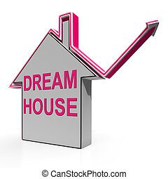 Dream House Home Means Finding Or Building Ideal Property