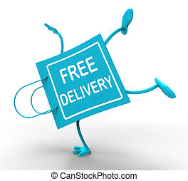 Handstand Free Delivery Shopping Bag Showing No Charge Or...