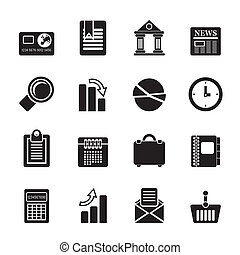 Business and Office icons - Silhouette Business and Office...