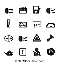 realistic vector icons set