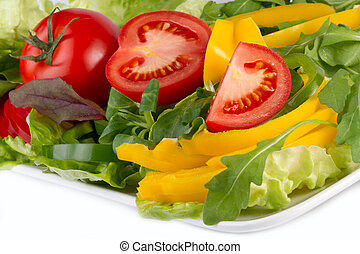 colorful vegetables on plate