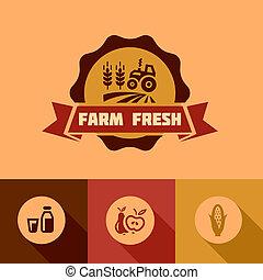 flat farm fresh design elements