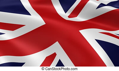 4K United Kingdom flag - United Kingdom flag in the wind...