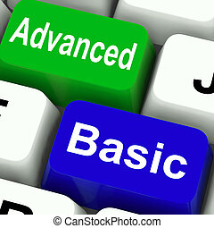 Advanced And Basic Keys Show Program Levels Plus Pricing -...