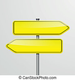 roadsigns directions - detailed illustration of a roadsign...