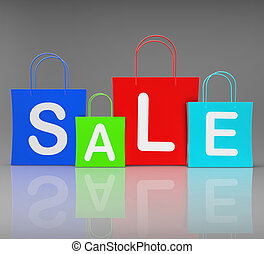 Sale Bags Show Retail Buying and Shopping