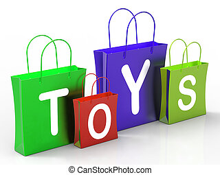 Toys Bags Shows Retail Shopping and Buying - Toys Bags...