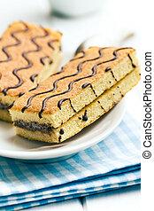 sweet dessert on white wooden table - the sweet dessert on...