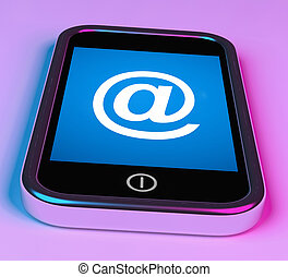 At Symbol On Phone Shows @ At-Sign Email