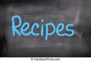 recettes, concept