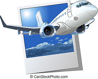 Vector Cartoon Airliner. Available EPS-10 vector format...