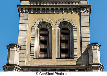 Lutheran Church Tower - Architectural Detail Of Lutheran...