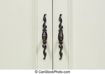 handle of cupboard - modern style metal handle front of...