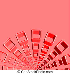 Red cube cover - Creative design of red cube cover