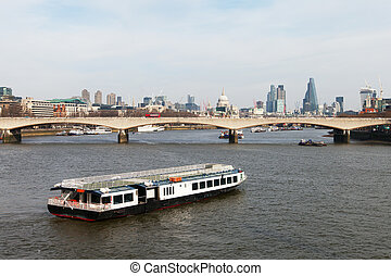 Thames river, London - Thames river, London, United Kingdom...