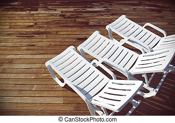 White Deck Chairs