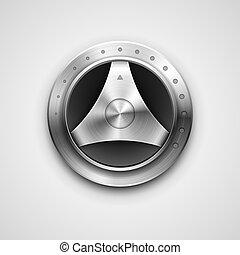 Metallic knob