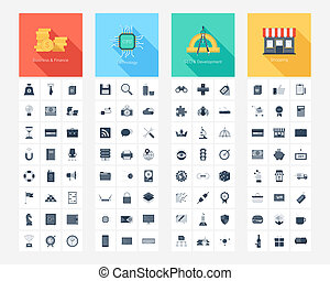 Web icons - Vector collection of flat and simple web icons...