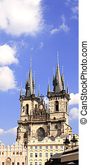 Old Town Square, Tyn Church, Prague, Czech Republic