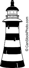 Lighthouse - A lighthouse illustration in stylised black and...