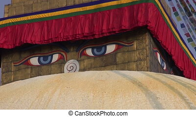 Boudhanath Stupa in Kathmandu - oldest and biggest buddhist...