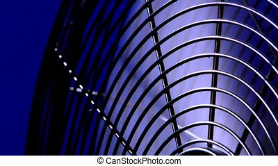 electric fan - the close-up view of electric fan in action
