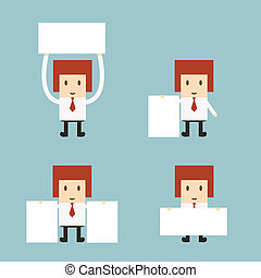 Set of business cartoon office worker