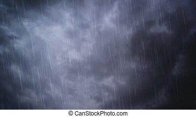 Heavy rain falling from the sky