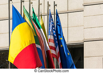 International Flags Close Up - International Flags Of...