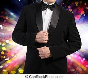 Man in Classic Black Tuxedo