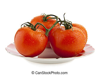 fresh juicy tomatoes