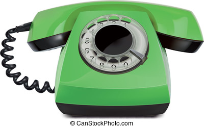 Telephone vintage, isolated. Vector