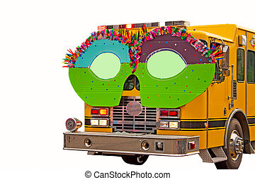 Fire Truck In Parade With Glasses