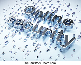 Privacy concept: Silver Online Security on digital...