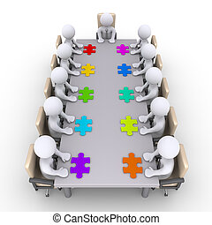 Meeting of businessmen to find the solution - Businessmen...