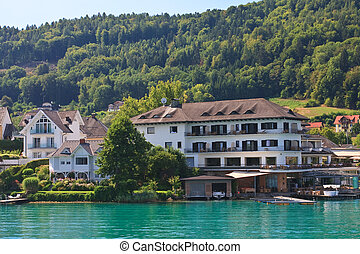 Resort Maria Worth and Lake Worth (Worthersee). Austria