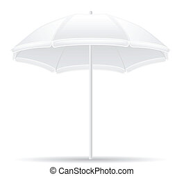 beach umbrella vector illustration isolated on white...