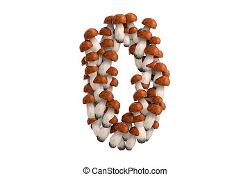 Boletus mushroom symbol 0 on white background - Boletus...