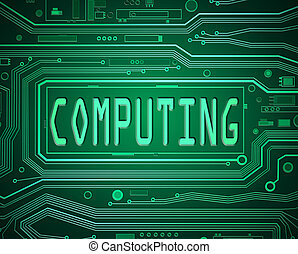 Computing concept. - Abstract style illustration depicting...