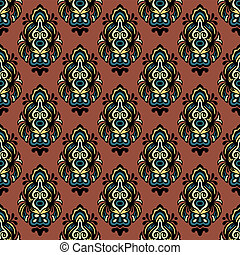 Abstract vintage  vector seamless pattern